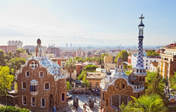 Picture the city, blur, Spain, Barcelona, bokeh, Barcelona, Spain, clear day, view, travel, wallpaper., my planet, …