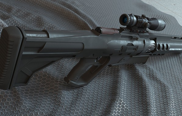 Picture weapons, sight, rifle, weapon, sci-fi, rendering, rifle, scope, futuristic, futuristic