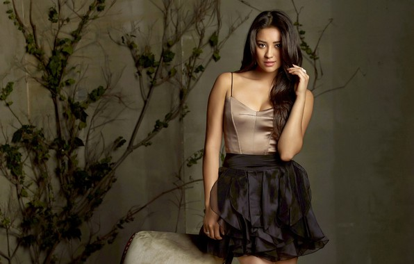 Picture look, girl, skirt, figure, blouse, Shay Mitchell
