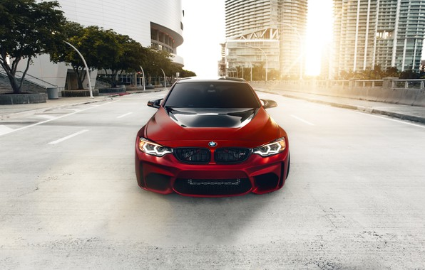 Picture BMW, Light, Front, Black, RED, F80, Sight, LED