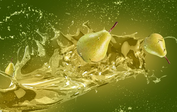 Picture squirt, splash, juice, pear