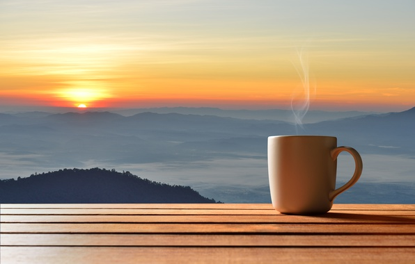 Wallpaper dawn, coffee, morning, Cup, hot, coffee cup ...