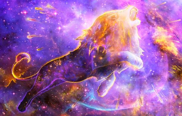 Picture space, nebula, Leo