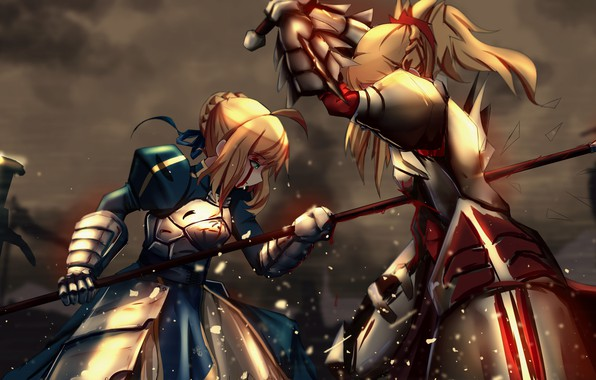 Photo Wallpaper Blood Armor Anime Fight Asian Manga Saber