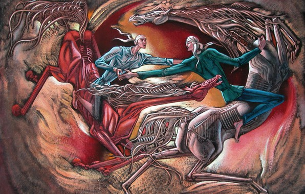 Picture white horse, Contest, Aibek Begalin, Two thousand four, horsemen, red horse