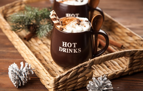 Picture coffee, chocolate, cream, Cup, hot, cinnamon, cup, cocoa, drink, coffee, cream, chocalate, latte