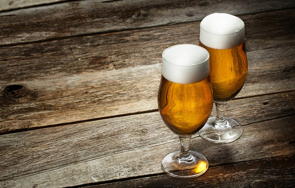 Picture foam, Board, beer, glasses, drink
