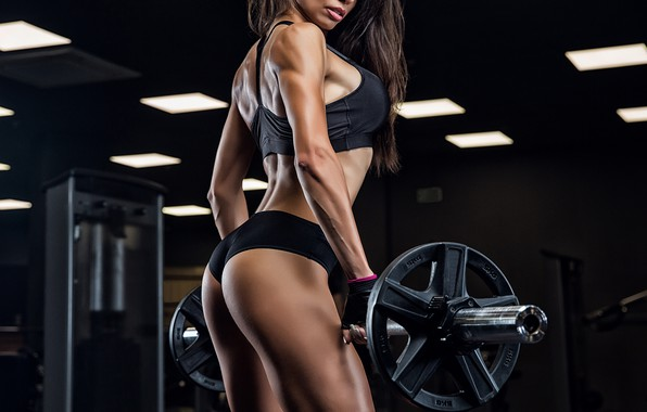 Picture ass, chest, girl, sexy, sport, linen, figure, brunette, hairstyle, athlete, photographer, rod, body, the gym, …
