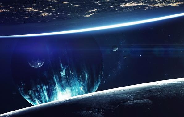 Picture fantasy, cosmos, planet, sci fi