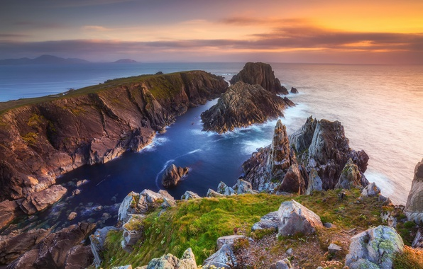 Picture sea, stones, the ocean, rocks, on the edge
