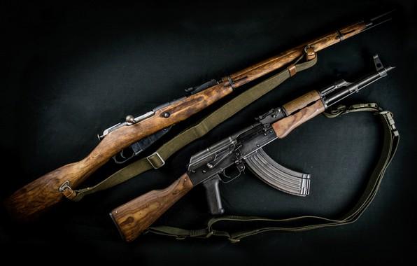 Picture weapons, machine, rifle, weapon, Kalashnikov, assault rifle, Mosin, AKM