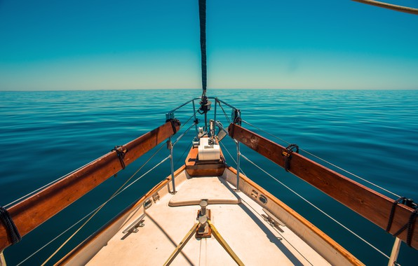 Picture sea, yacht, nose