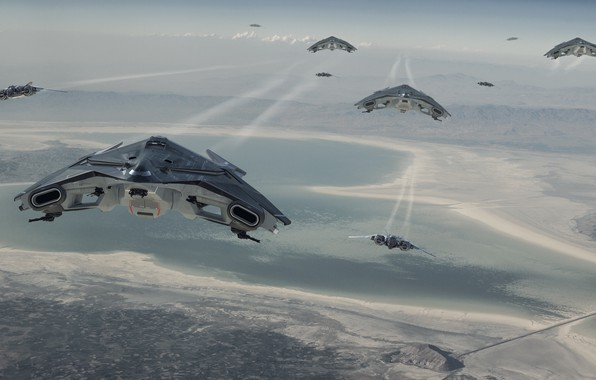 Picture Sabre, Star Citizen, Crusader Industries, Aegis, Hercules Starlifter