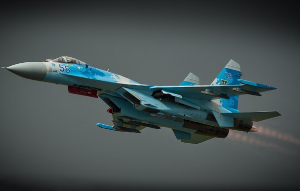 Picture the sky, flight, combat aircraft, Sukhoi Su-27P1M