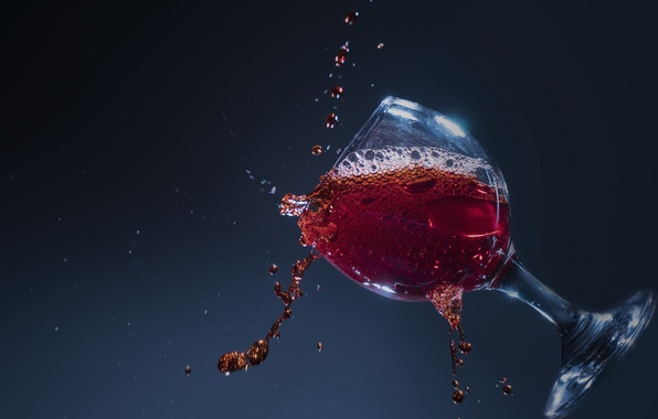 Picture drops, macro, squirt, background, wine, glass