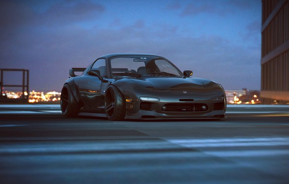 wallpaper mazda car rx 7 tuning future by khyzyl. Black Bedroom Furniture Sets. Home Design Ideas
