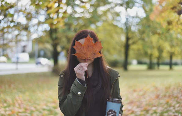 Picture girl, autumn, moods