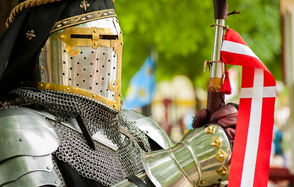 Picture metal, style, knight armor
