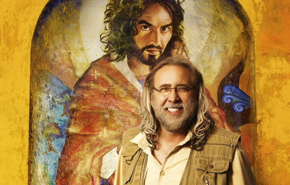 Picture Nicolas Cage, poster, Comedy, Nicolas Cage, Army of One, Russell Brand, Mission: Inadequate, Russell Brand