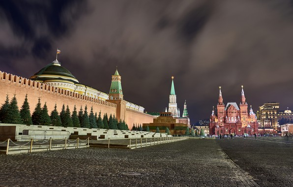 Picture night, the city, Moscow, the Kremlin, center, red square