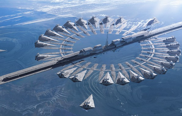 Picture Star Wars, portal, fantasy, Star Destroyer, science fiction, sci-fi, movie, planet, digital art, film, spaceships, …