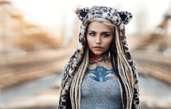 Picture look, tattoos, piercings, Felisja Foam