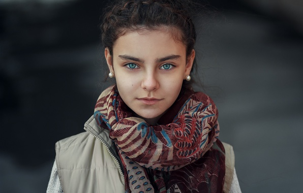 Picture eyes, look, portrait, scarf, photographer, girl, Janibek Bakyt, To Happiness