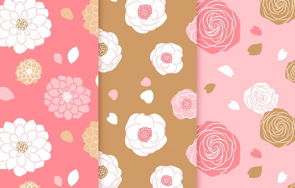 Picture flowers, background, pink, roses, texture, hearts