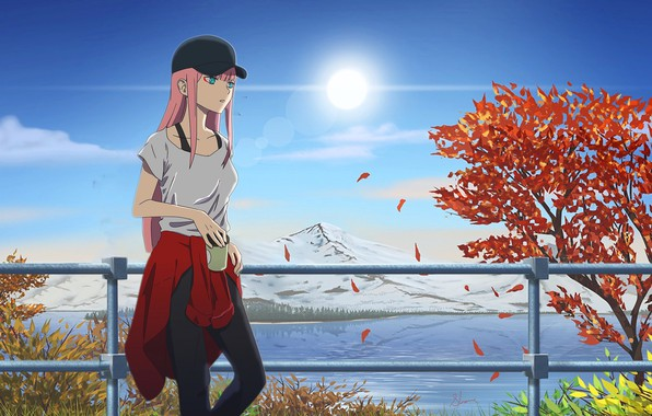 Picture girl, anime, art, Darling In The Frankxx, Cute in France