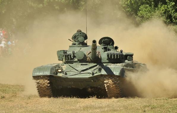Picture dust, tank, combat