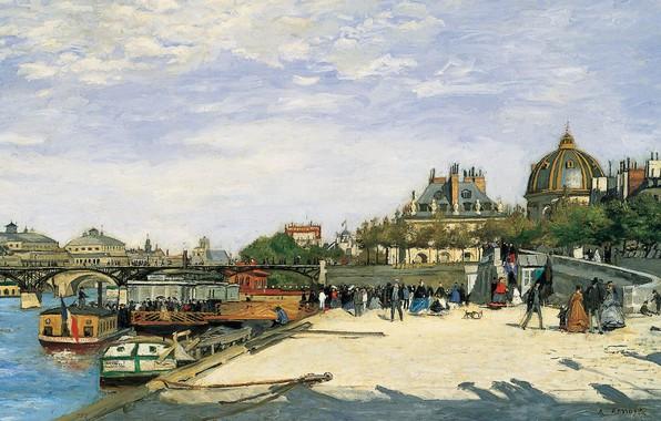 Picture river, picture, Hay, the urban landscape, The Pont Des Arts. Paris, Pierre Auguste Renoir, Pierre …
