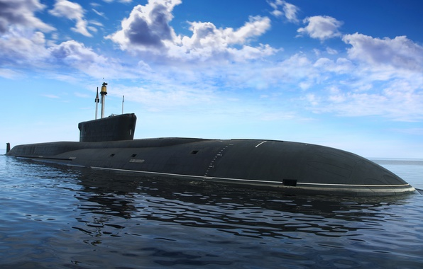 Picture submarine, underwater, submarine, cruiser, atomic, purpose, Borey, strategic