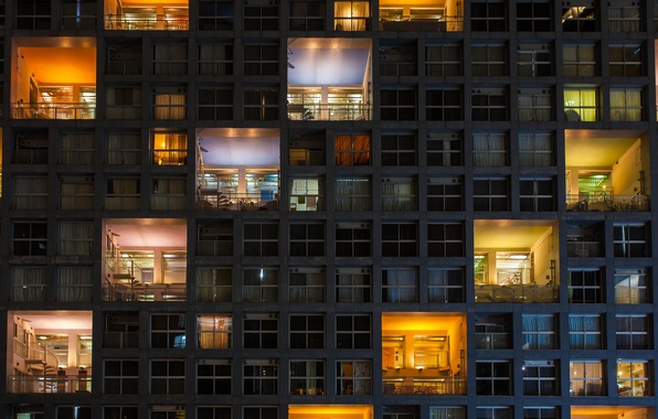Picture light, the city, house, Windows