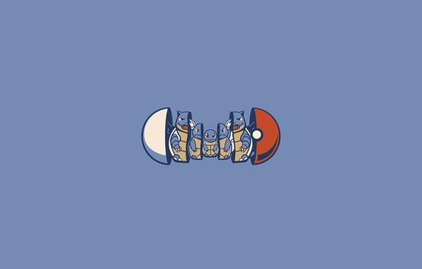 Picture pokemon, pokemon, pokeball, squirtle, pokemon, matryoshka, squirtle, pokebol, wartortle, blastoise, blastoise, vartoti