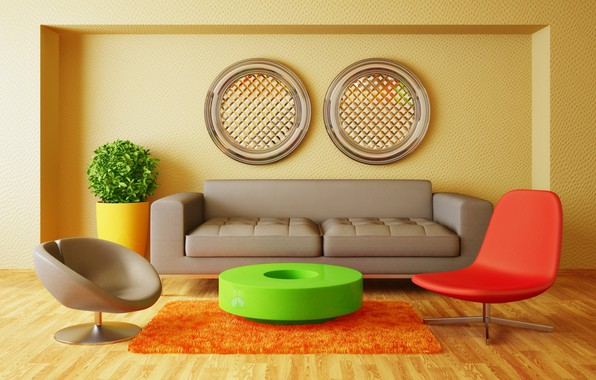 Picture sofa, furniture, chairs, living room, room, interior, Modern