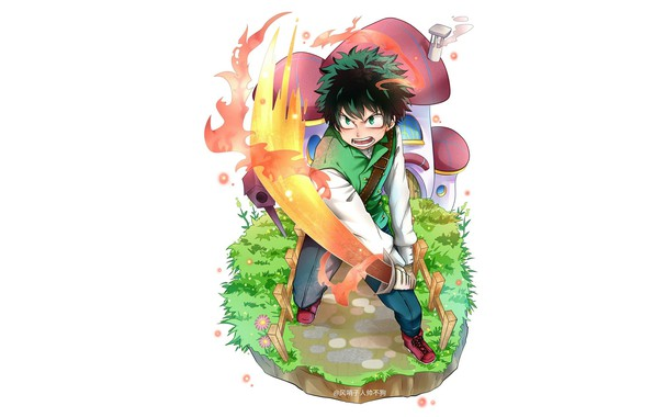 Picture sword, guy, Boku no Hero Academy, Midori Isuku