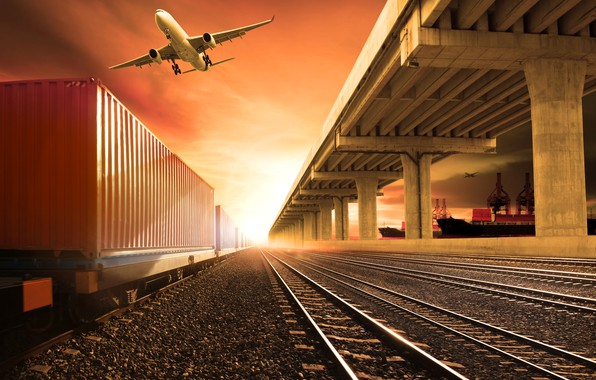 Picture the sky, the sun, the plane, photoshop, rails, ships, station, cars, port, railroad, glow, gravel, …