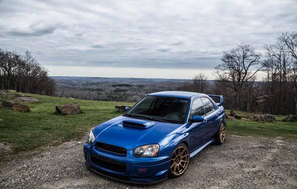 Picture Subaru, Impreza, WRX, Blue, STI, Rally Legend