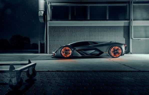 Picture Lamborghini, Light, Side, Hypercar, The Third Millennium