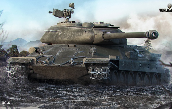 Picture dirt, tank, World of Tanks, Is-6, Wargaming net