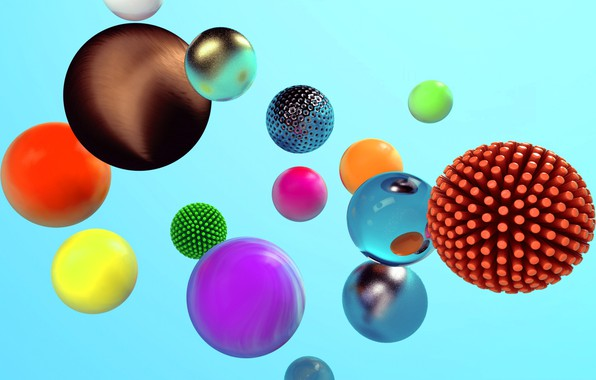 Picture abstraction, ball, sphere, the volume