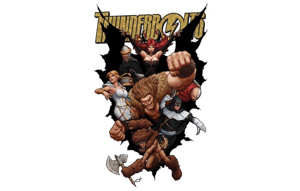 Picture comic, Marvel Comics, Troll, Satan, Boomerang, Thunderbolts, Mr. Hyde, Moonstone