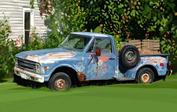 Picture background, car, pickup