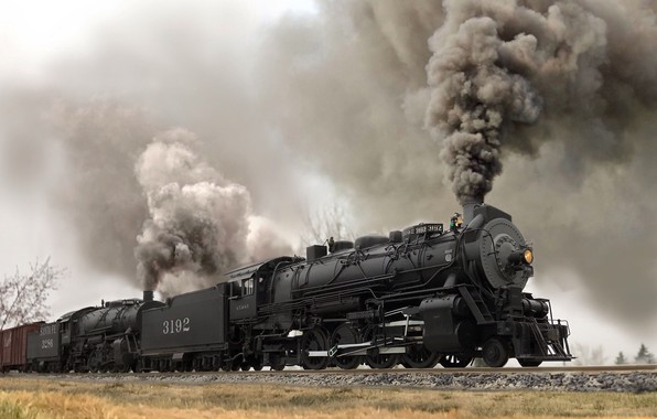 Picture the engine, couples, railroad