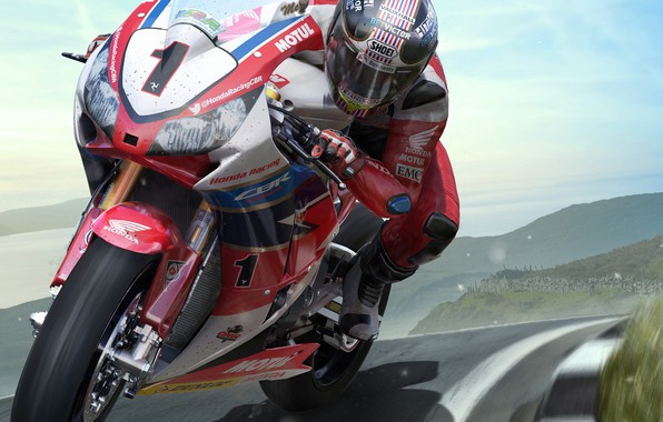 Picture track, motorcycle, racer, TT ISLE OF MAN