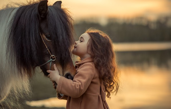 Picture horse, friendship, girl
