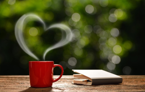 Picture coffee, morning, Cup, love, hot, heart, romantic, coffee cup, good morning