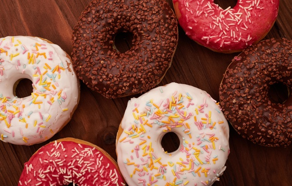 Picture donuts, glaze, donuts