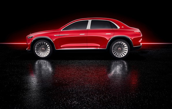 Picture Mercedes-Benz, Vision, side view, 2018, Mercedes-Maybach, electrocreaser, Ultimate Luxury
