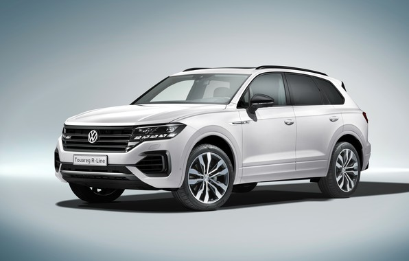 Picture Volkswagen, front view, Touareg, 2018, R-Line